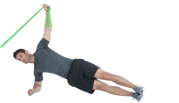 Resistance band exercises for abs